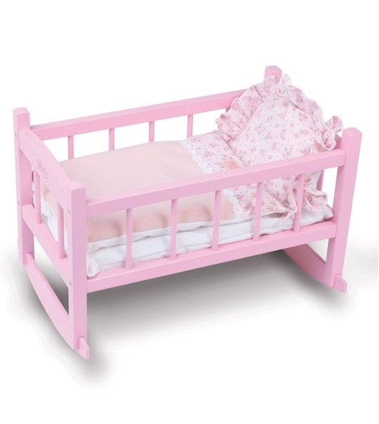 petitcollin pe800197 lit bercelonnette poup e 40cm laqu rose chez. Black Bedroom Furniture Sets. Home Design Ideas