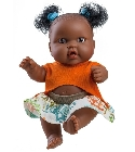 poupee-corolle Hebe mini fille africaine tenue orange 21...